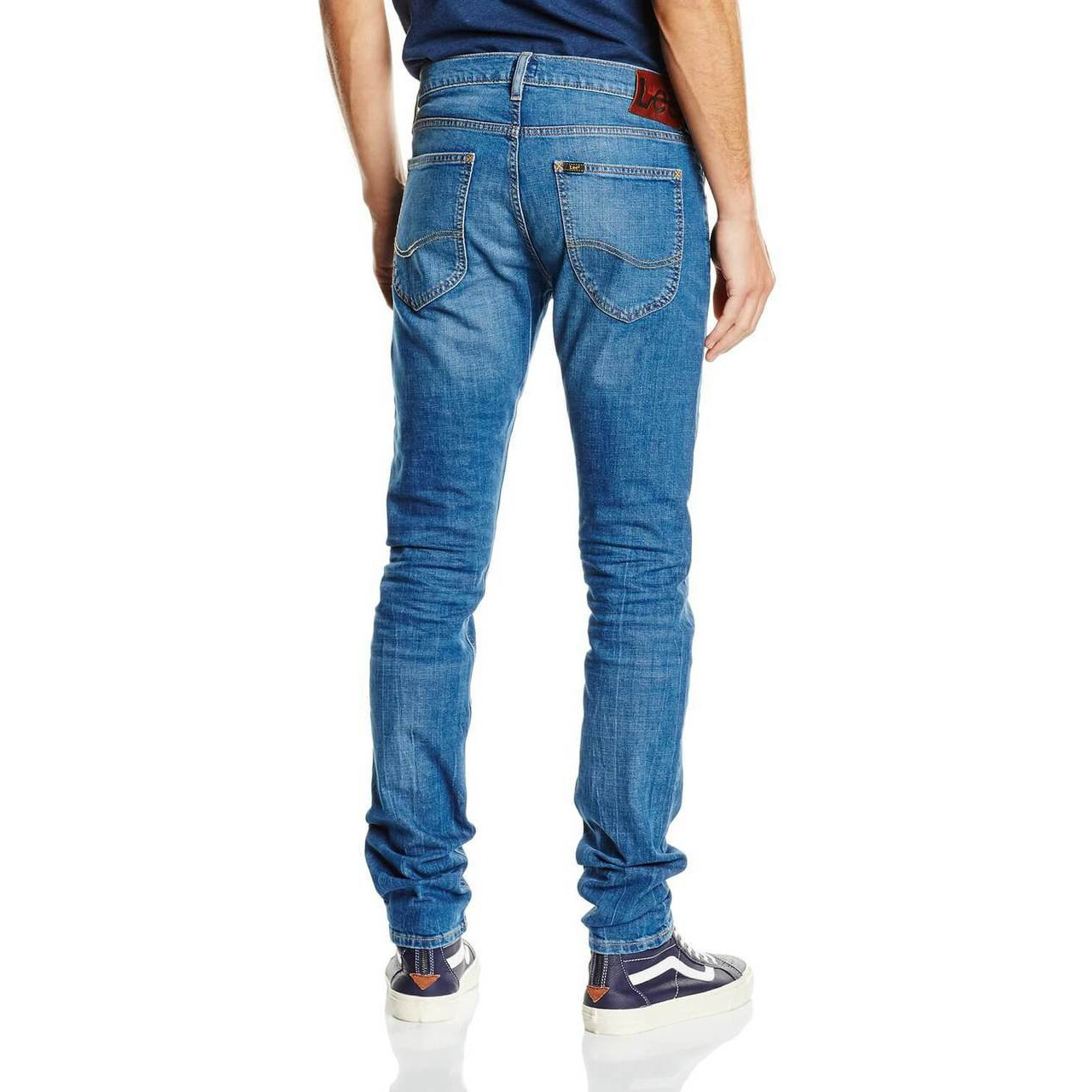 77d92a35 Lee Luke Slim Tapered Authentic Blue Blue Denim Jeans | Jean Scene