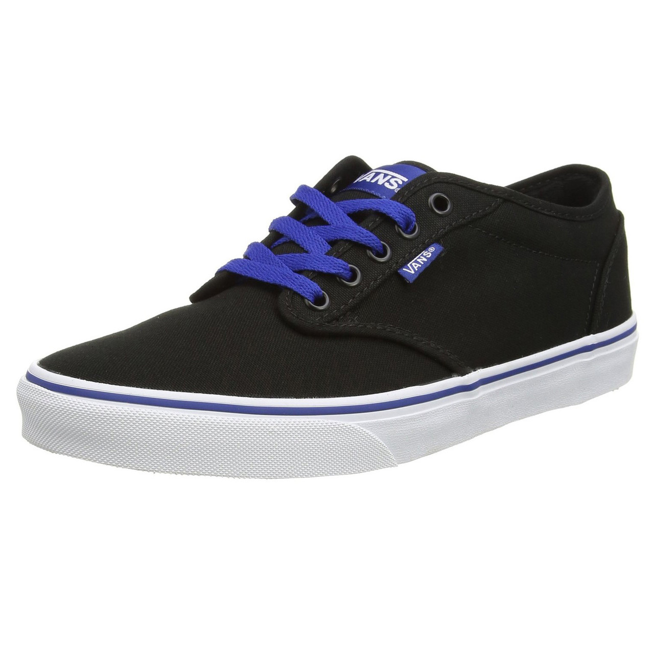 154786096d VANS Atwood Canvas Varsity Trainers Black Blue. Double tap to zoom