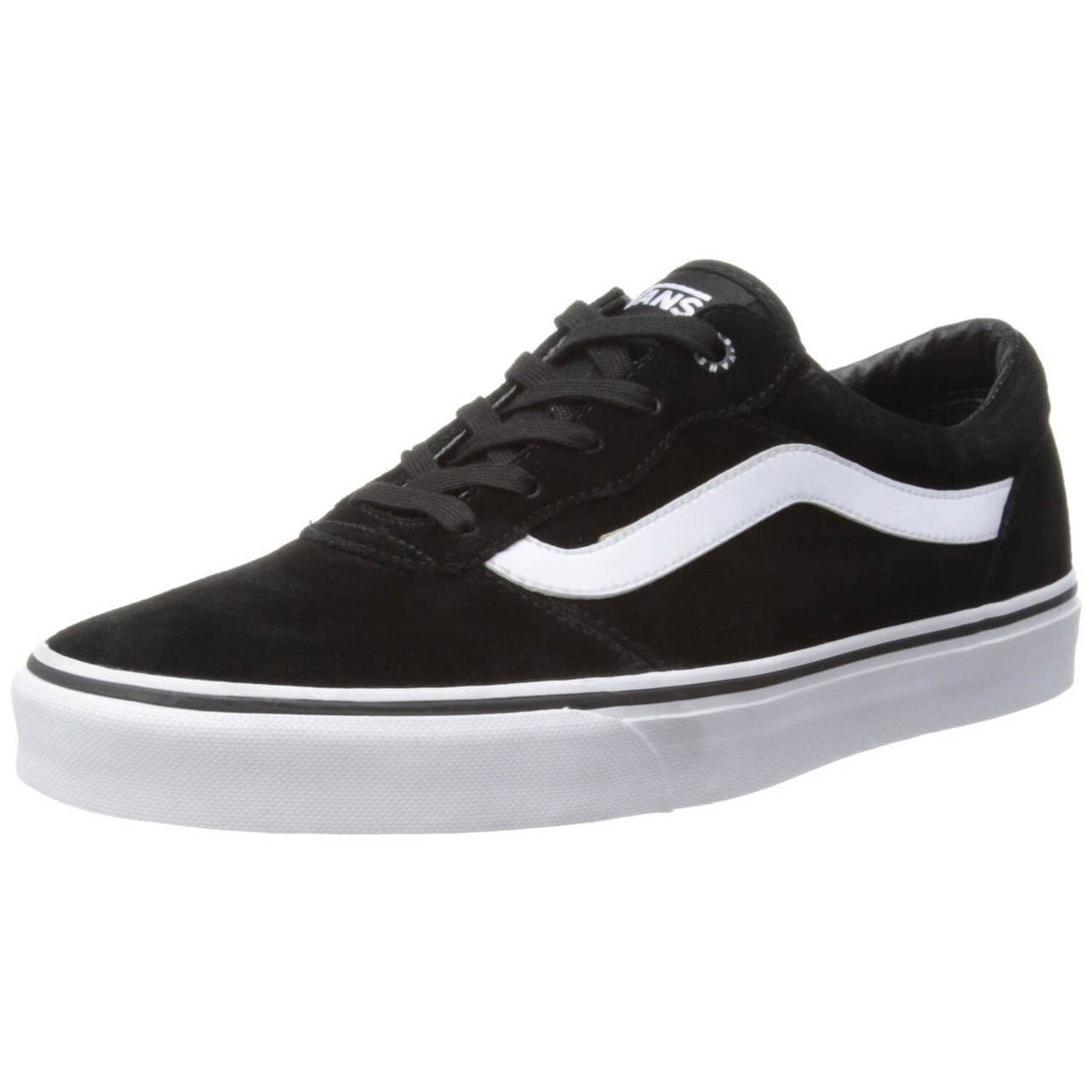 4f6ef1c359 Vans Milton Suede Trainers Black White Image. Double tap to zoom