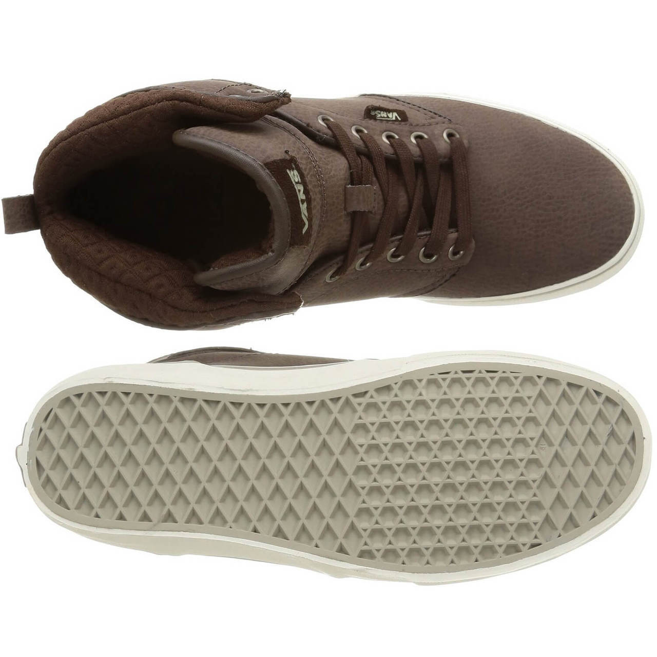 c3ab41875d7add Leather Vans Shoes - Men s Atwood High Top Leather Shoes Brown ...