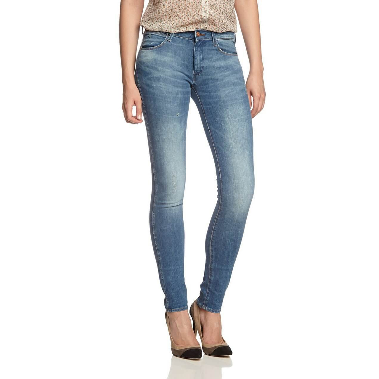 d522b08f Wrangler Corynn Skinny Stretch Jeans Deep Sea Decay Image. Double tap to  zoom