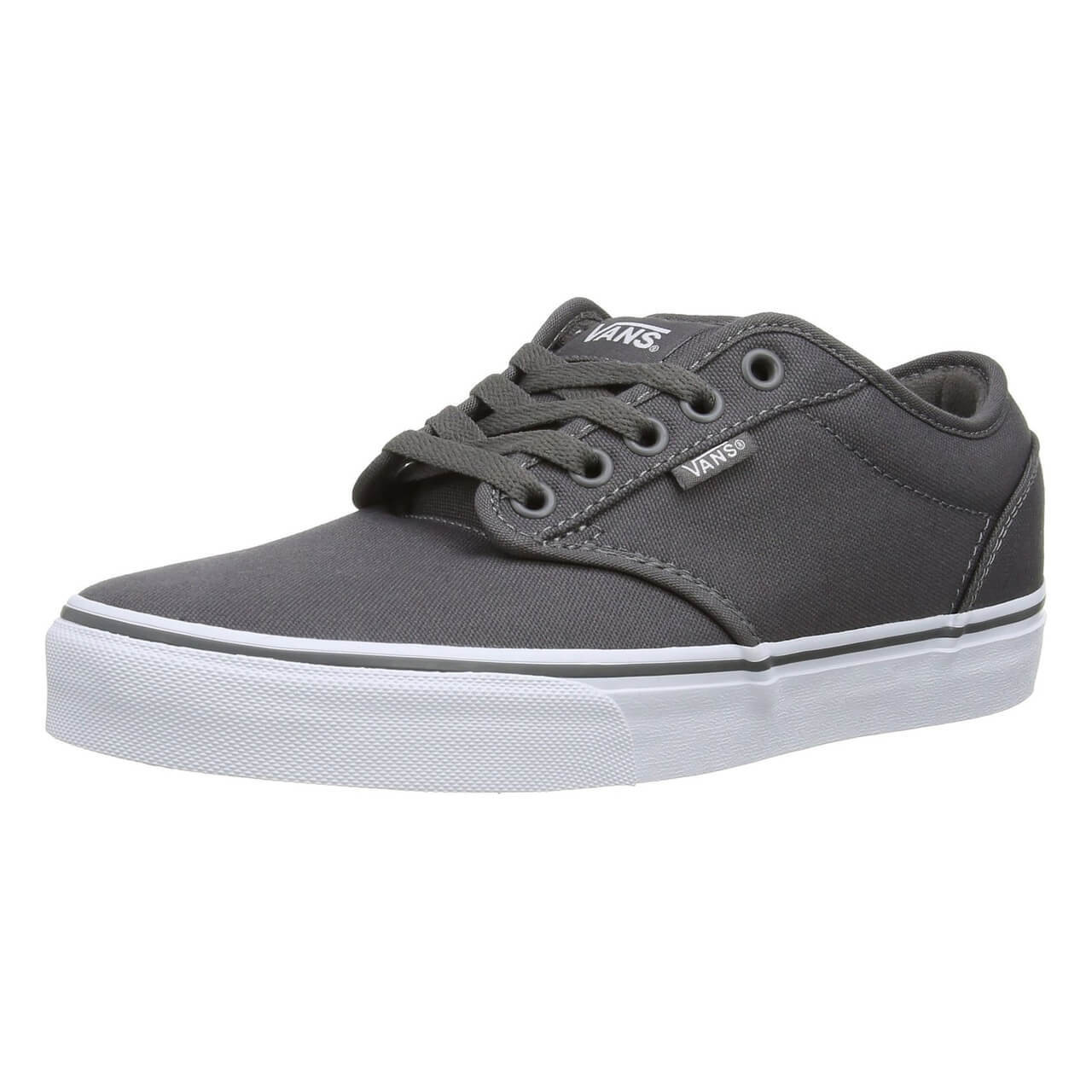 abf08a5a1a36 Vans Atwood Canvas Trainers Pewter Grey Image. Double tap to zoom