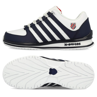 4c6f0c95e980c4 K-Swiss Men s Rinzler SP Leather Shoes Trainers White Blue
