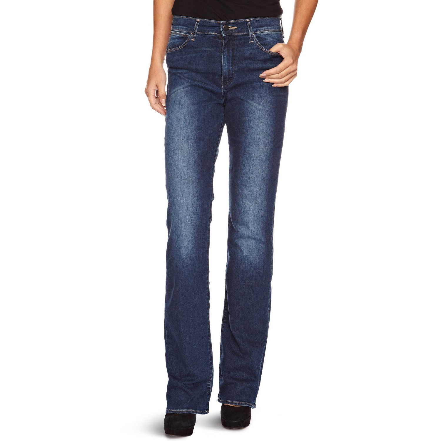 65589b0f Wrangler Tina Womens Bootcut Stretch Jeans Scuffed Indigo Blue   Jean Scene