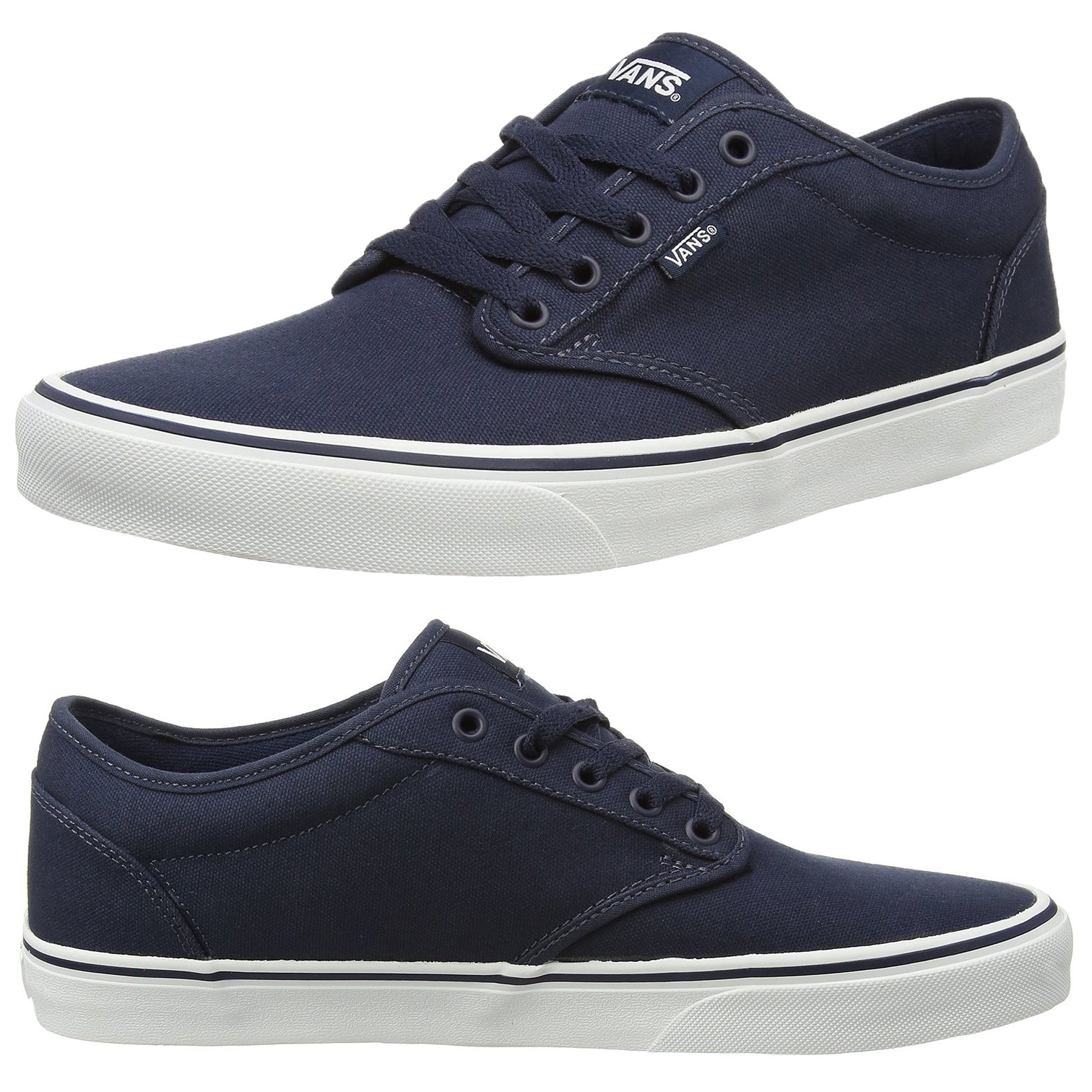 Vans Men s Atwood Canvas Trainers Navy White  8a32b370dd