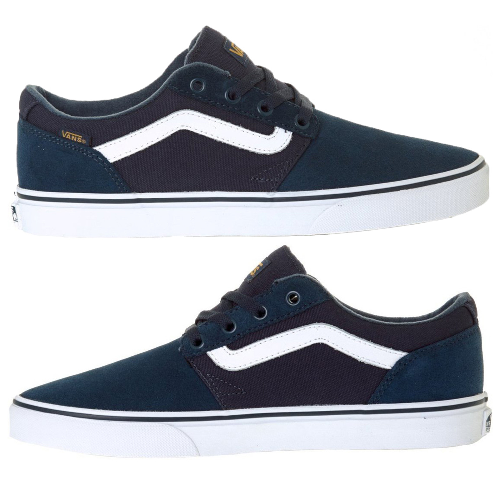 5a9a9f7ec1 Vans Men s Chapman Stripe Shoes Trainers Navy Gold