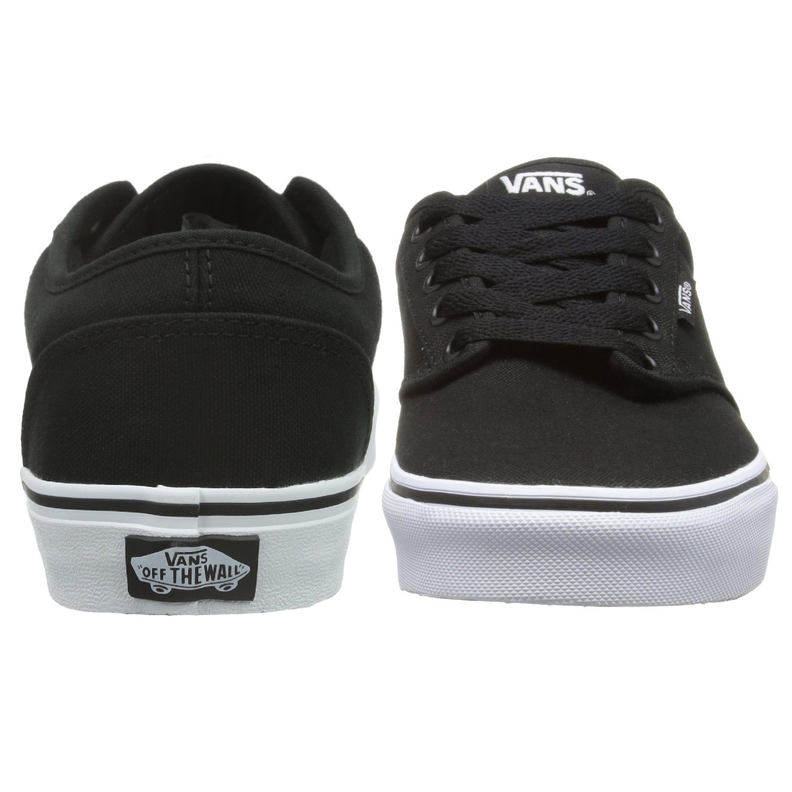0cd2e0958e1 Vans Men s Atwood Canvas Trainers Black White