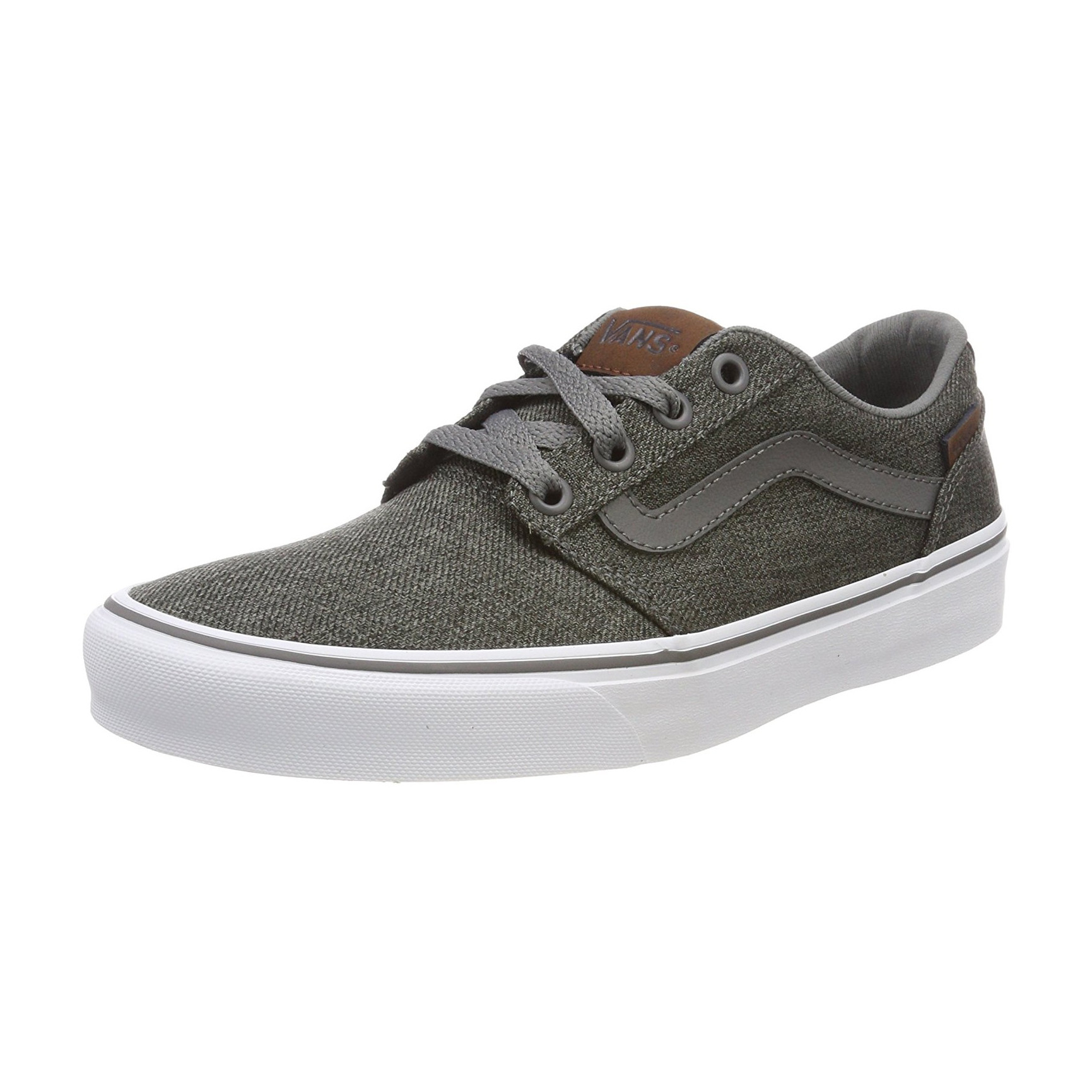 e8800899aa Vans Men s Chapman Stripe Canvas Shoes Trainers Pewter White