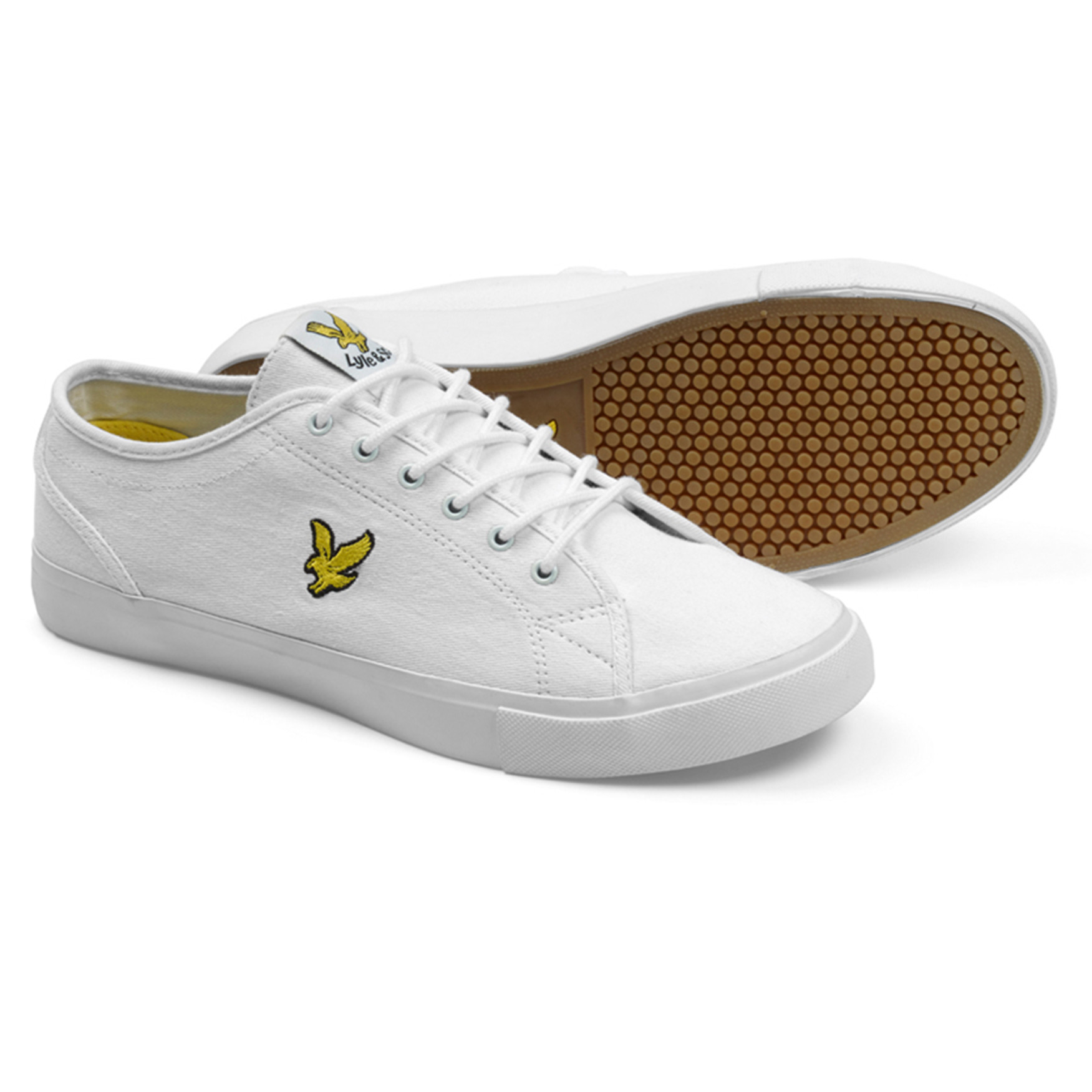 be7a07fc2a59 Lyle   Scott Men s Teviot Twill Low Canvas Shoes Shoes White