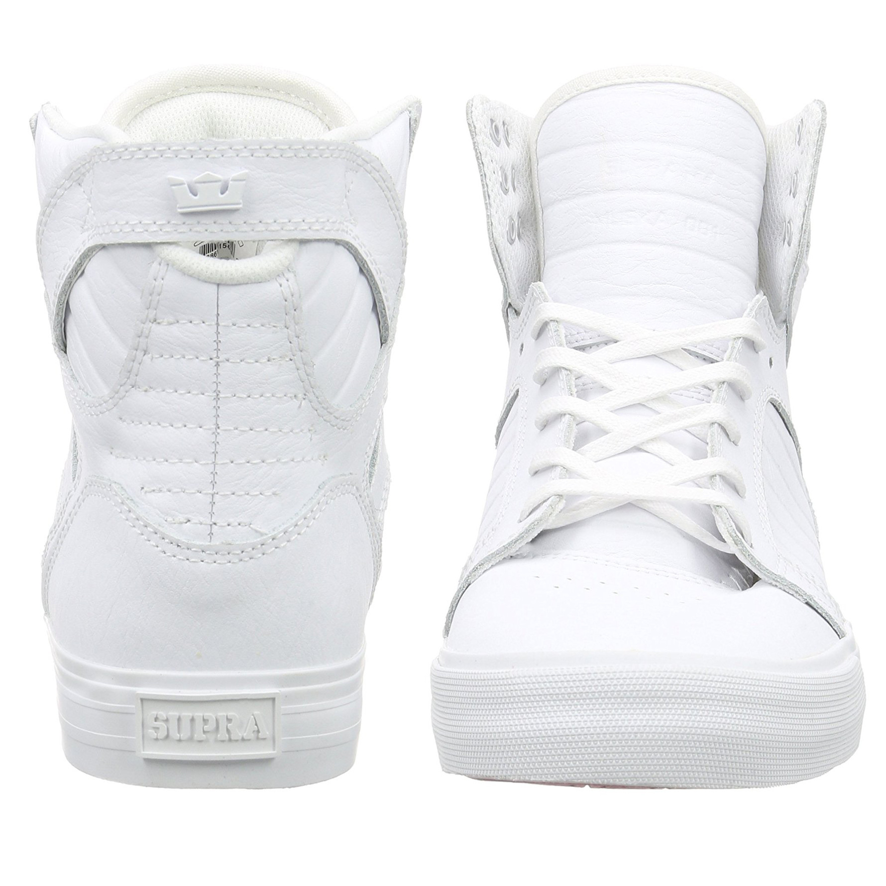 8d090e00e8a5 SUPRA Men s Skytop Leather Shoes Trainers White Red