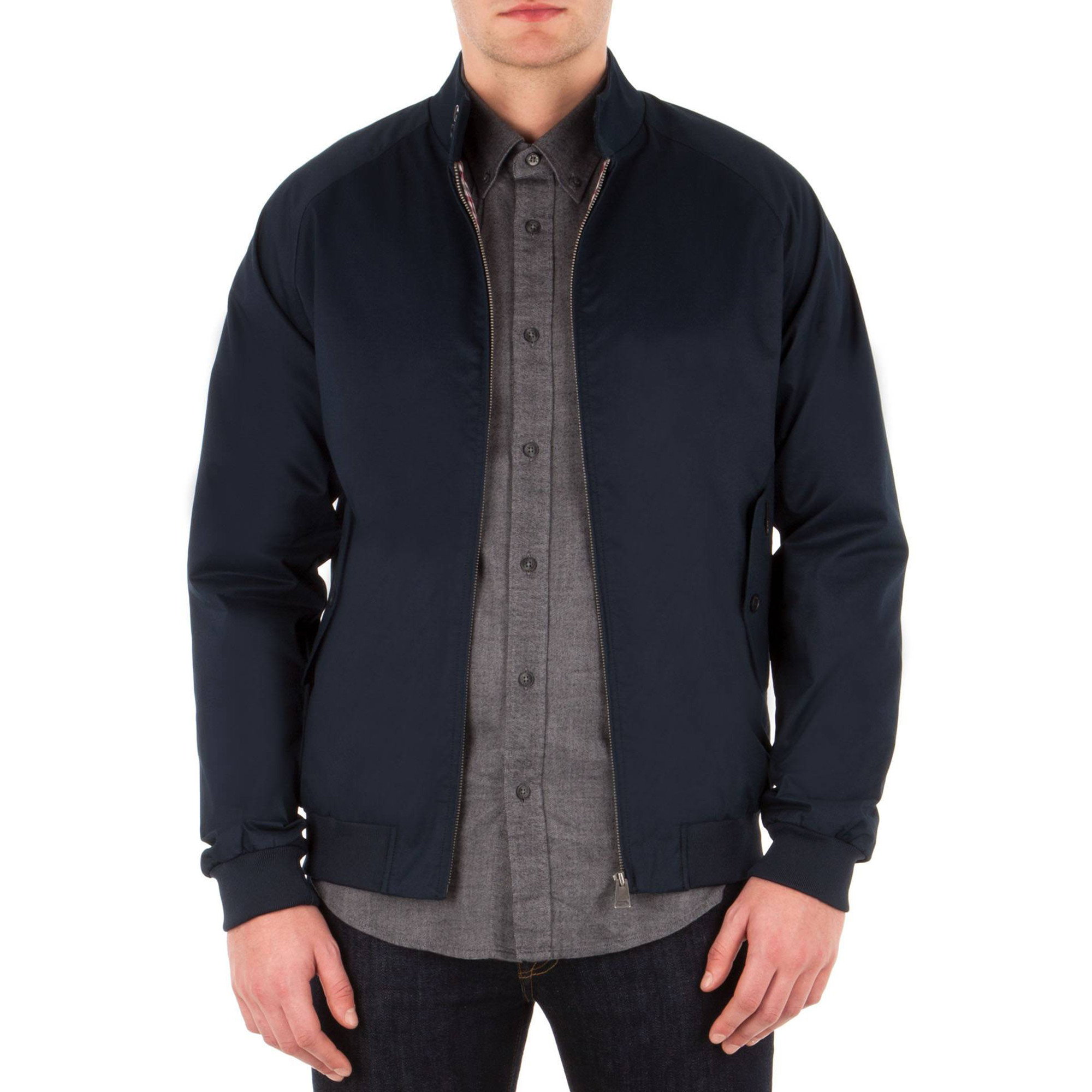 ben sherman harrington jacket navy jean scene. Black Bedroom Furniture Sets. Home Design Ideas
