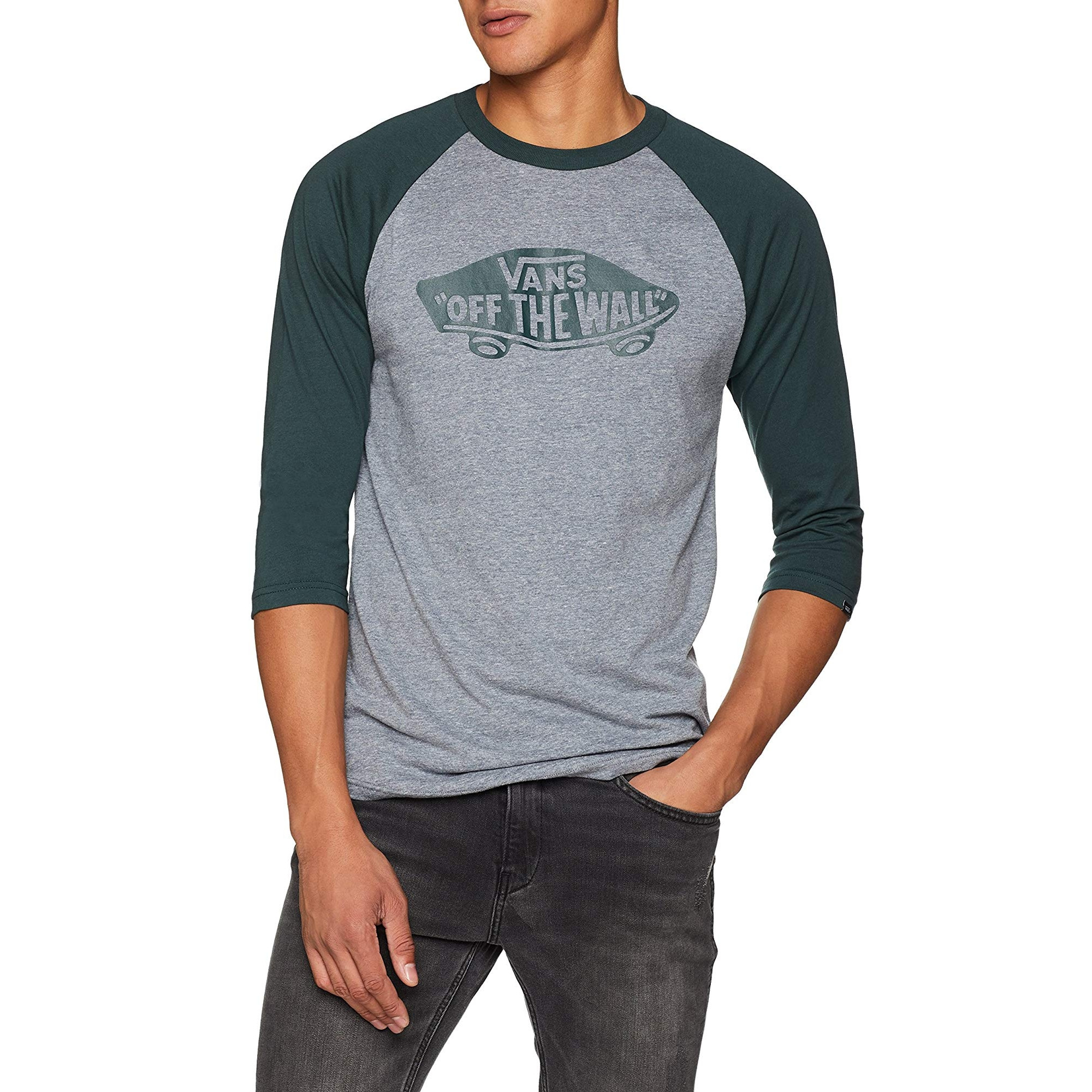 a7529affbc Vans Crew Neck Print Raglan T-shirt Heather Grey