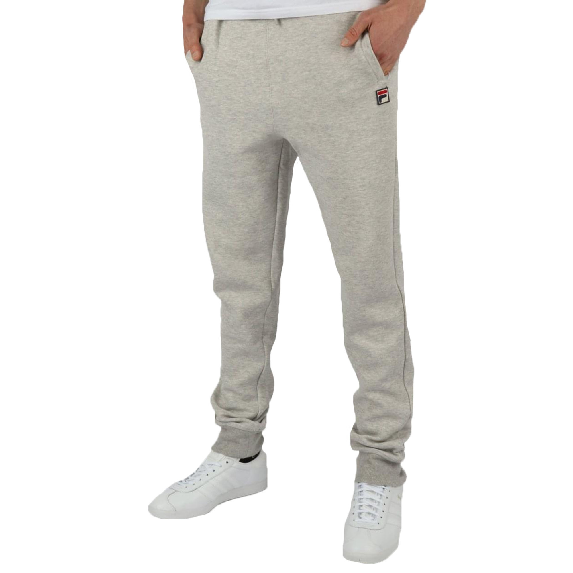 6034325e Fila Sarento Rib Detail Track Bottoms Light Grey Marl