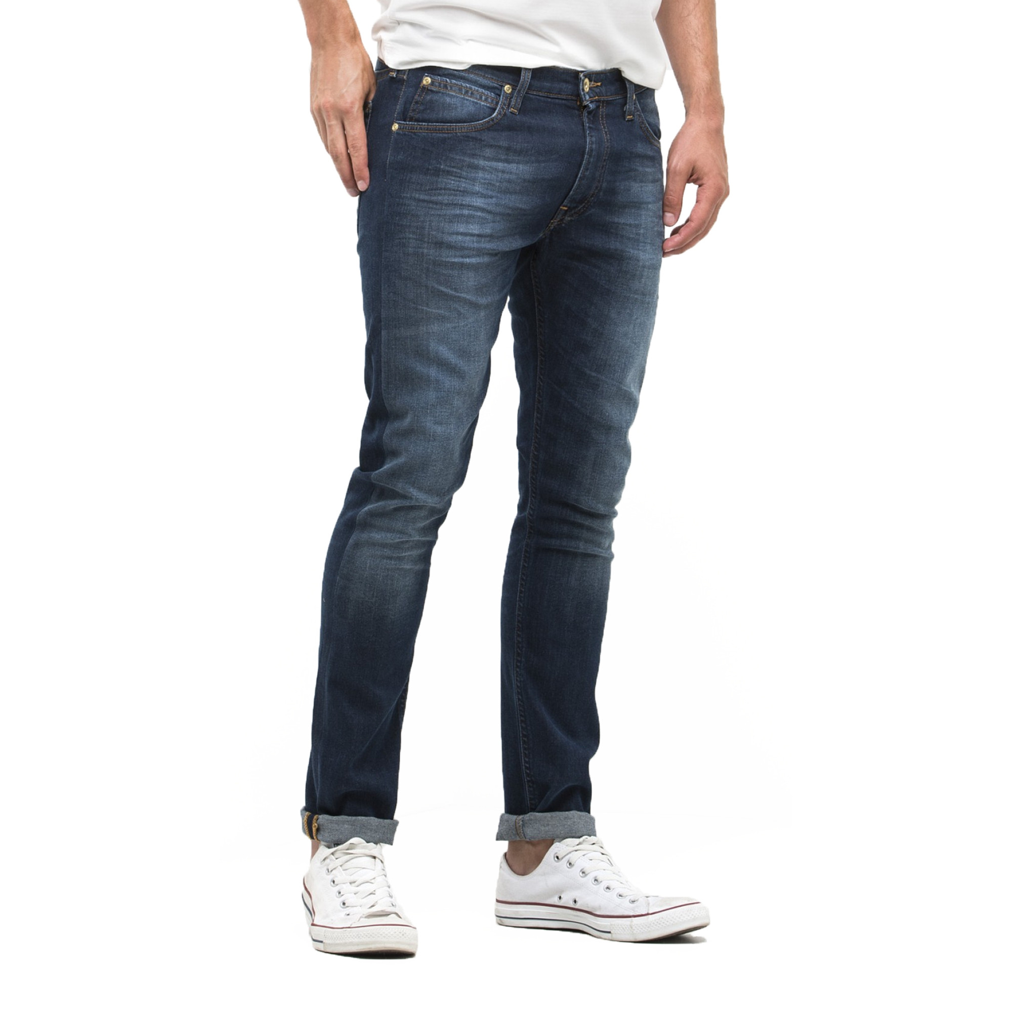 199c5501 Lee Luke Slim Tapered Faded True Authentic Denim Jeans | Jean Scene