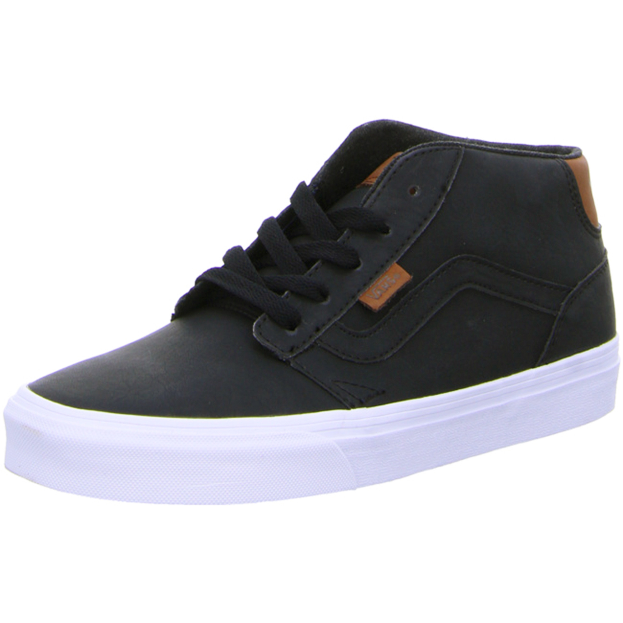 vans black leather shoes