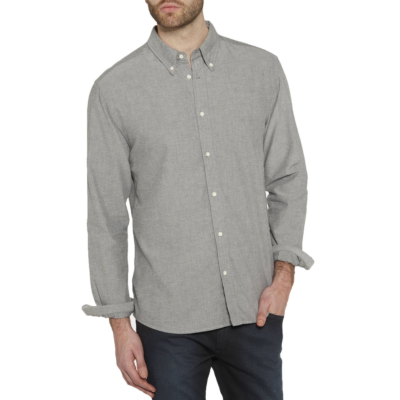 9317c150cad Wrangler Casual Men's Long Sleeve Oxford Shirt Black   Jean Scene