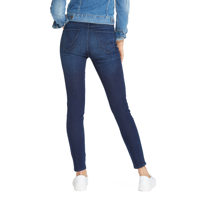 e80204c3a Wrangler High Skinny Women's Slim Stretch Jeans Subtle Blue | Jean Scene