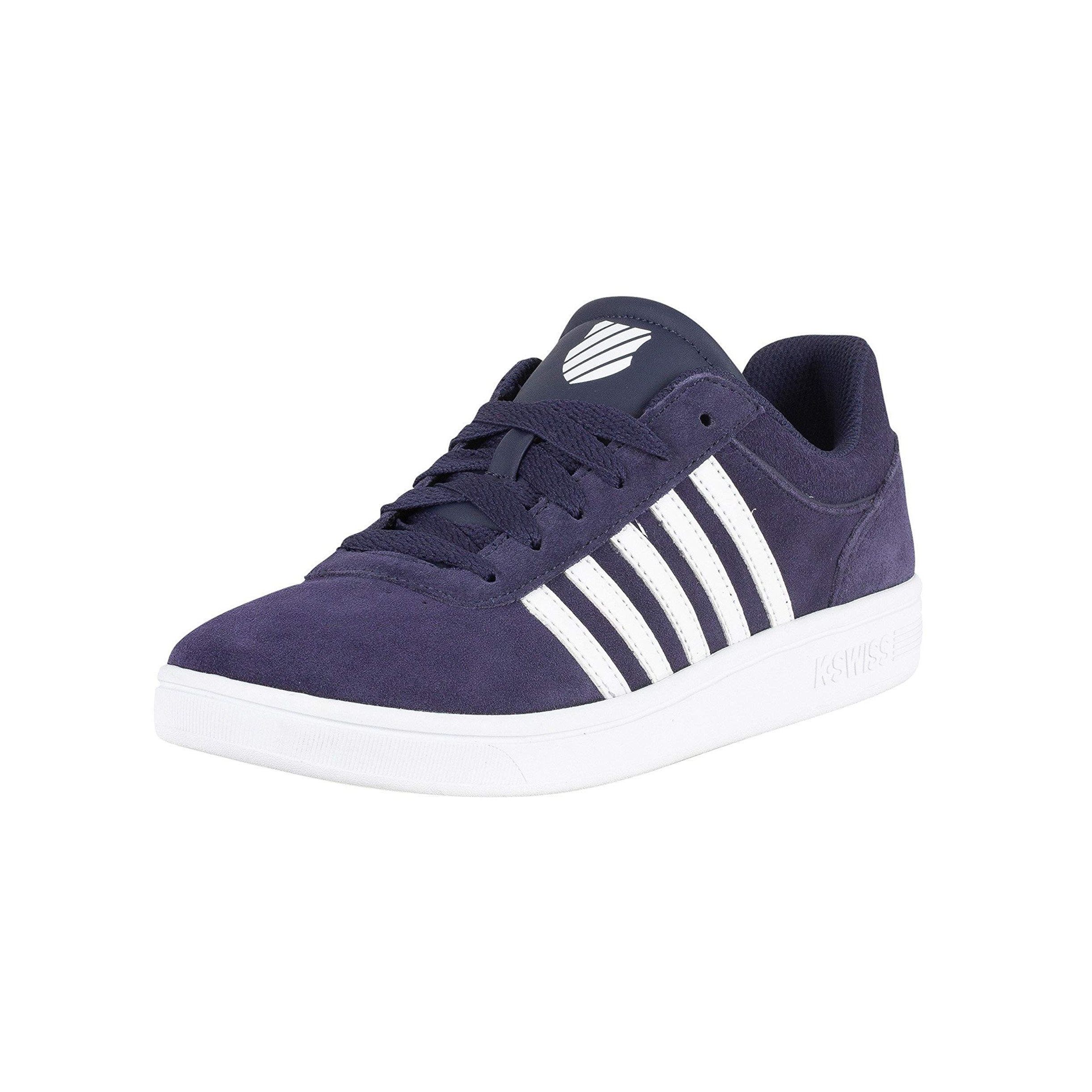 9568776eb46 K-Swiss Men's Court Cheswick Leather Shoes Trainers Navy/White | Jean Scene