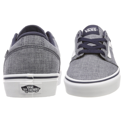 56162a0429 Vans mens chapman stripe canvas shoes trainers blue white jean scene jpg  2471x2471 Canvas vans shoes