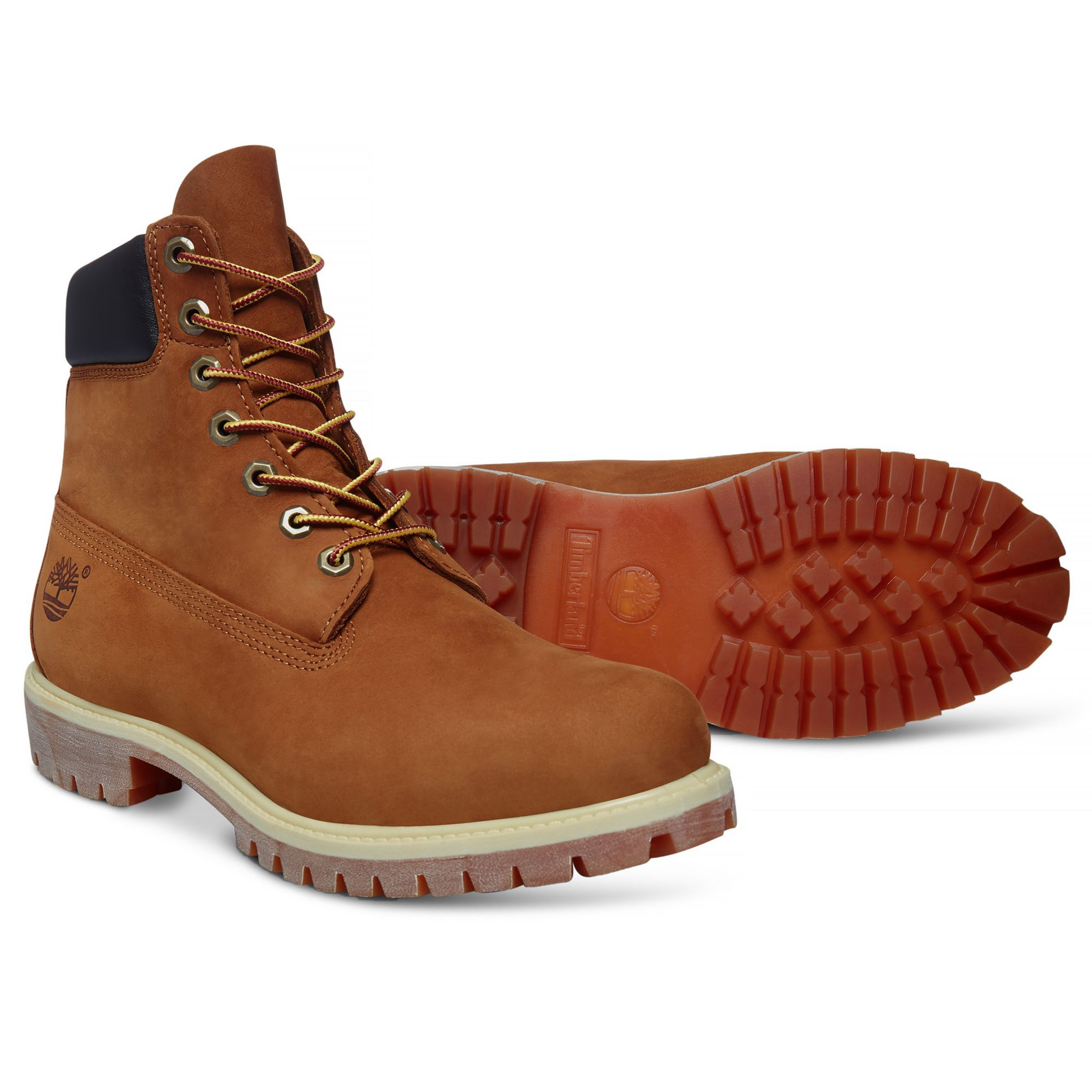 9297a26a5 Timberland Mens Premium 6 Inch Leather High Boots Boots Rust Orange | Jean  Scene