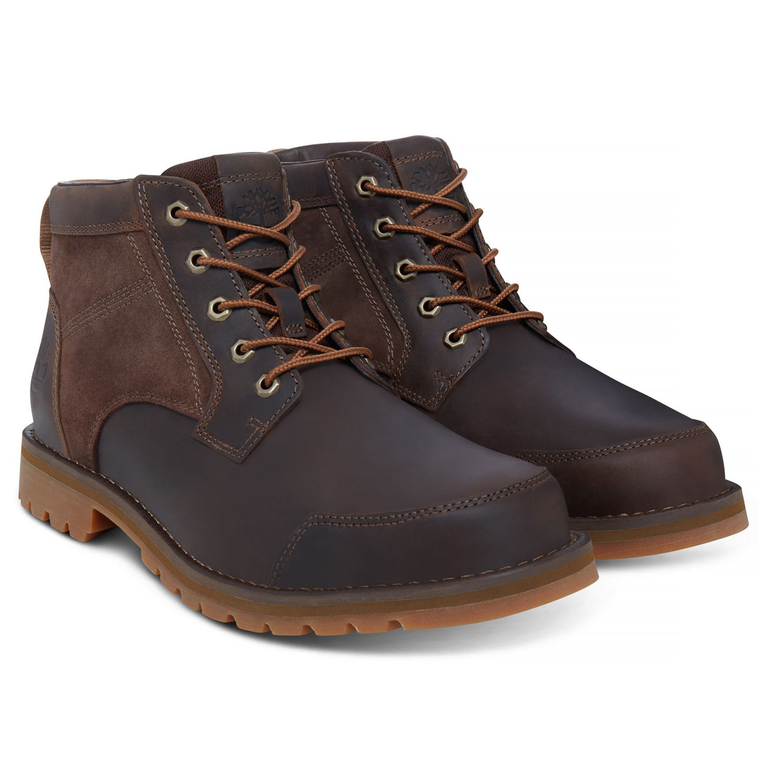 a9f77d670fea Timberland Mens Larchmont Chukka Leather Boots Boots Dark Brown ...
