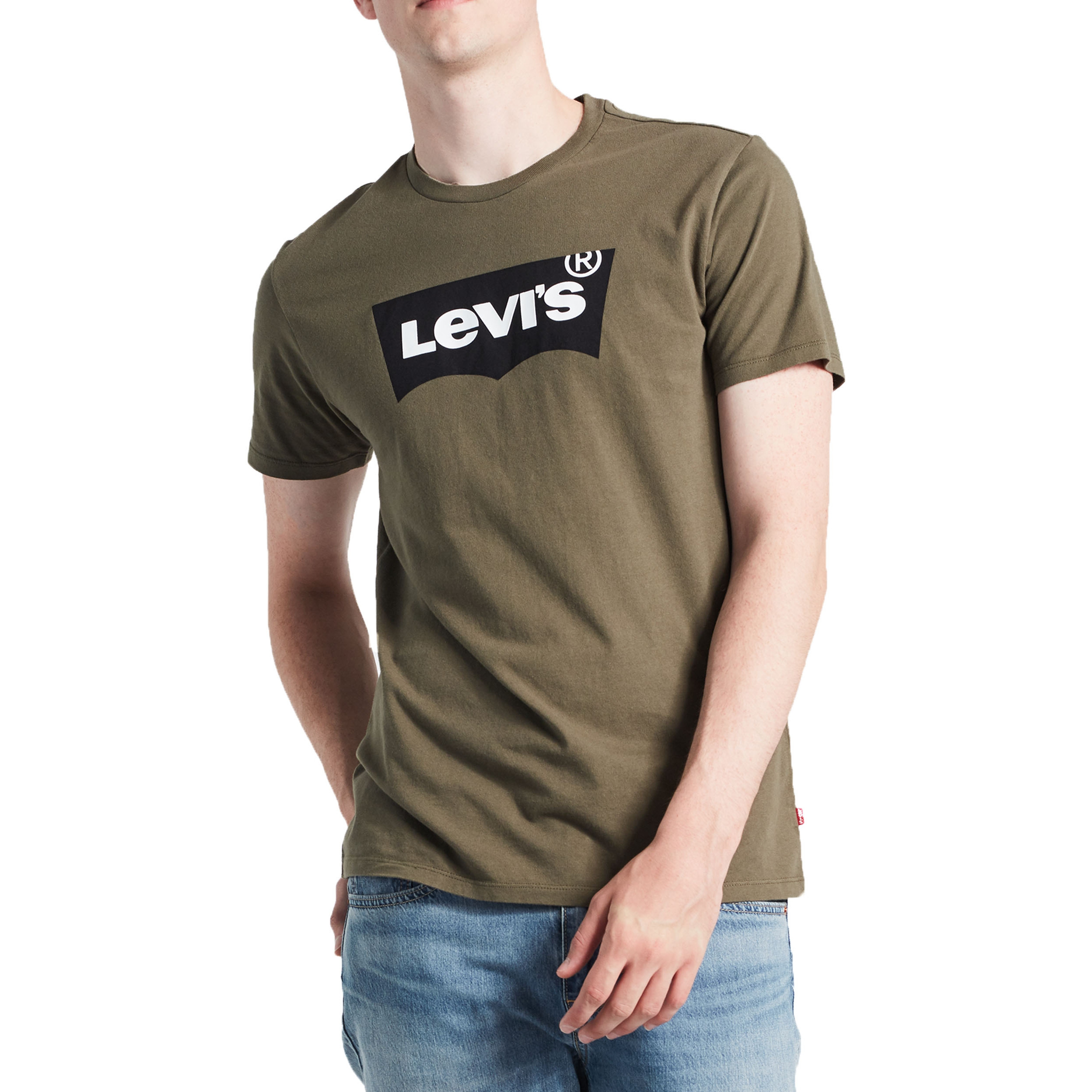 f60712b5fea Levis Graphic Batwing Housemark Men s T-Shirt Olive Night