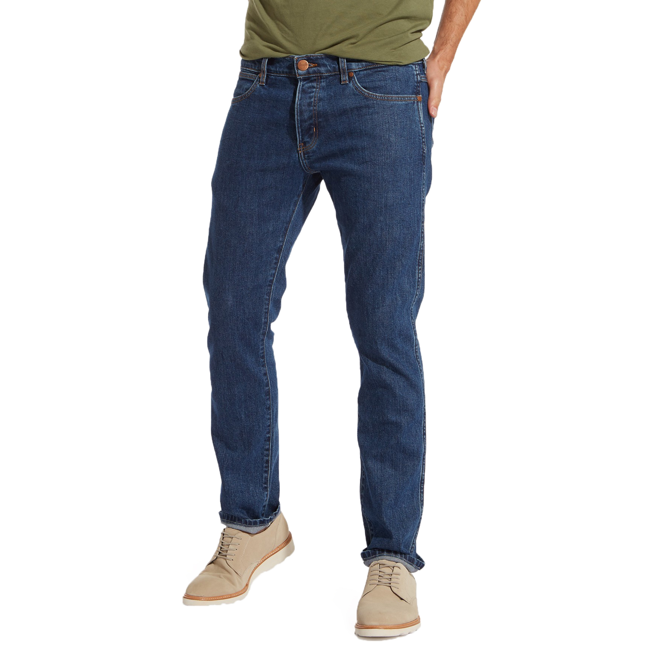 b41ed76dd06 Wrangler Spencer Tapered Slim Jeans Darkstone | Jean Scene