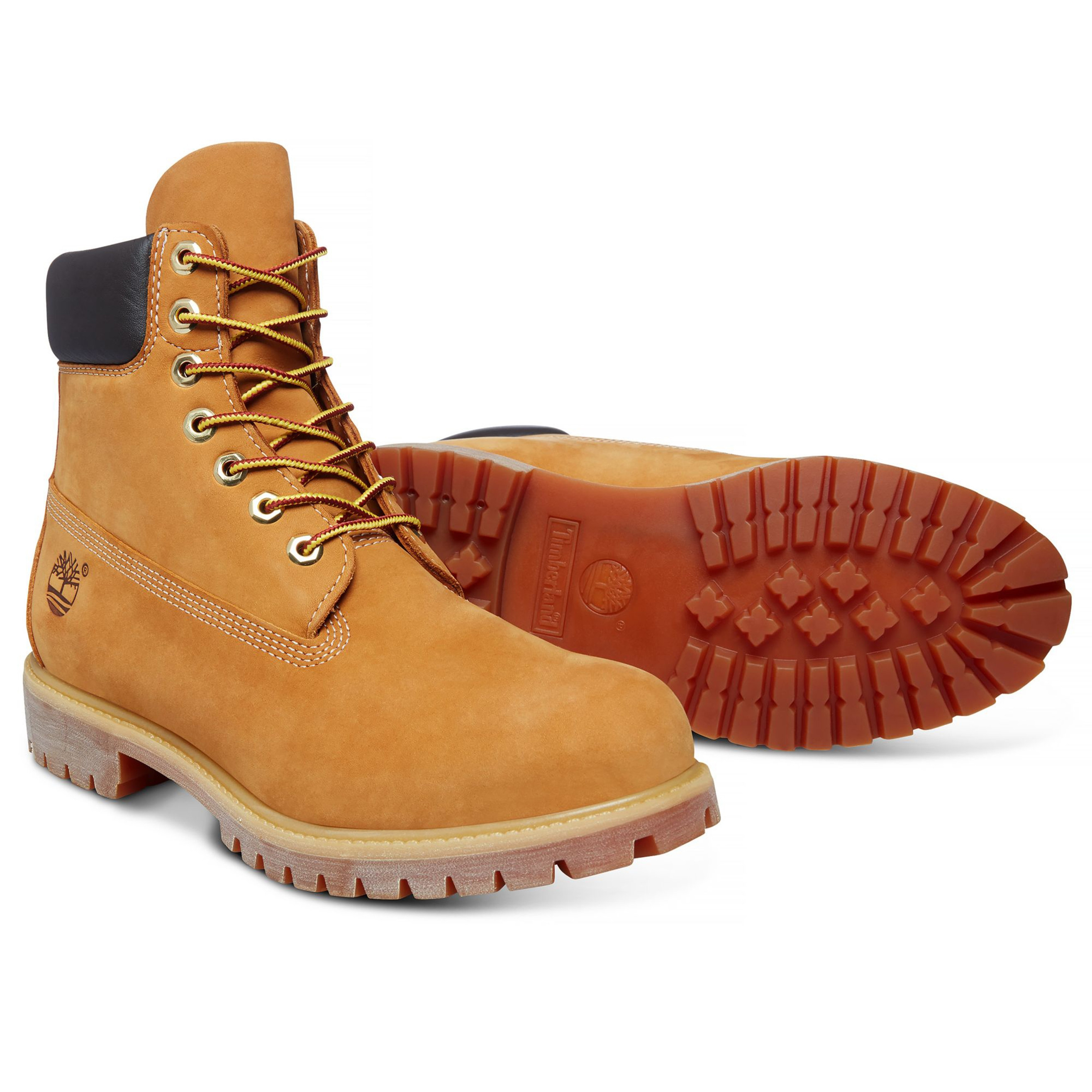 Timberland Mens Premium 6 Inch Leather High Boots Boots Wheat Yellow ... b9a4d49fec93a