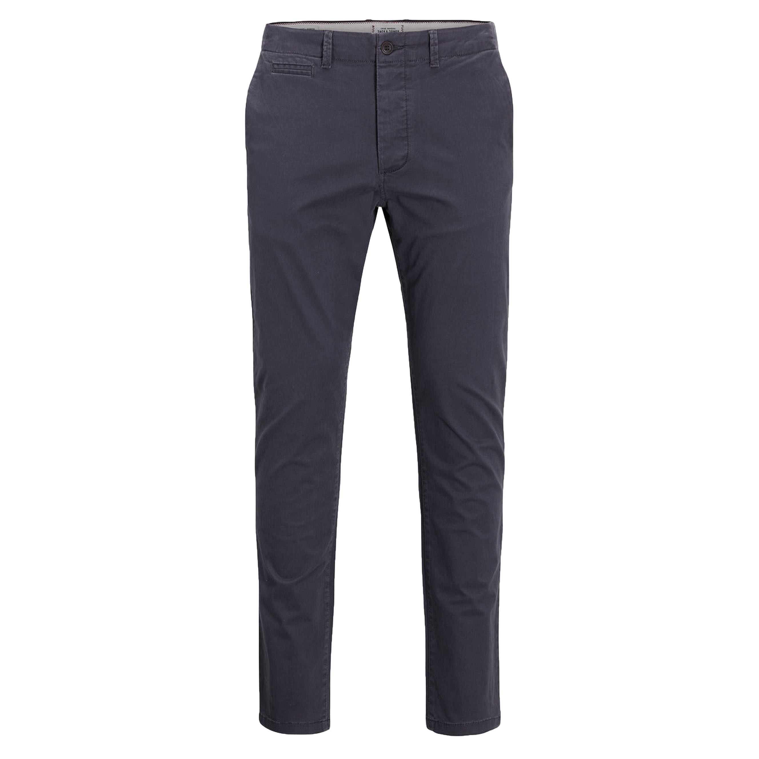 online retailer 2018 shoes classic styles Jack & Jones Marco Enzo Casual Cotton Chinos Dark Grey