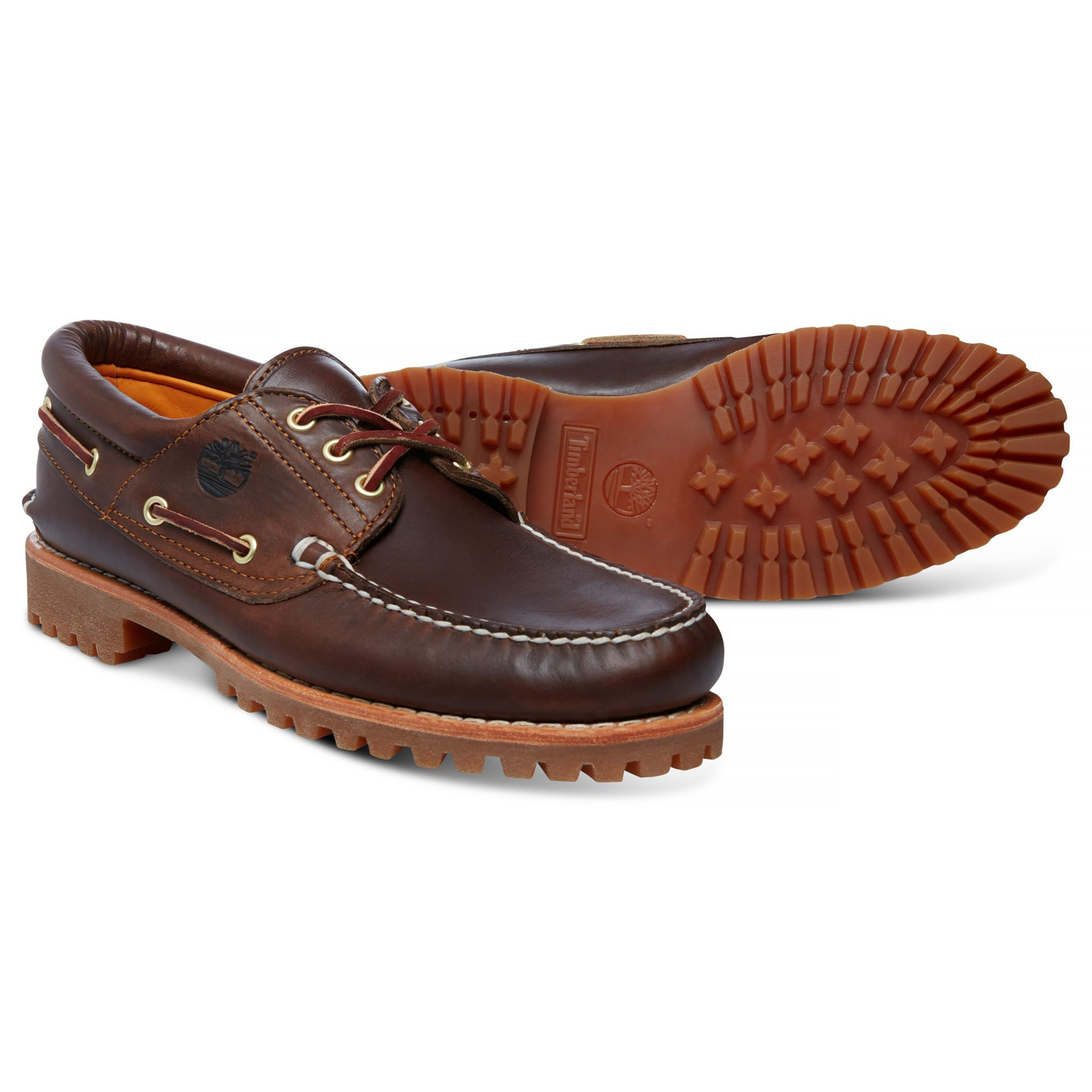 348bd388421c Timberland Mens Classic 3 Eye Leather Boat Shoes Shoes Brown