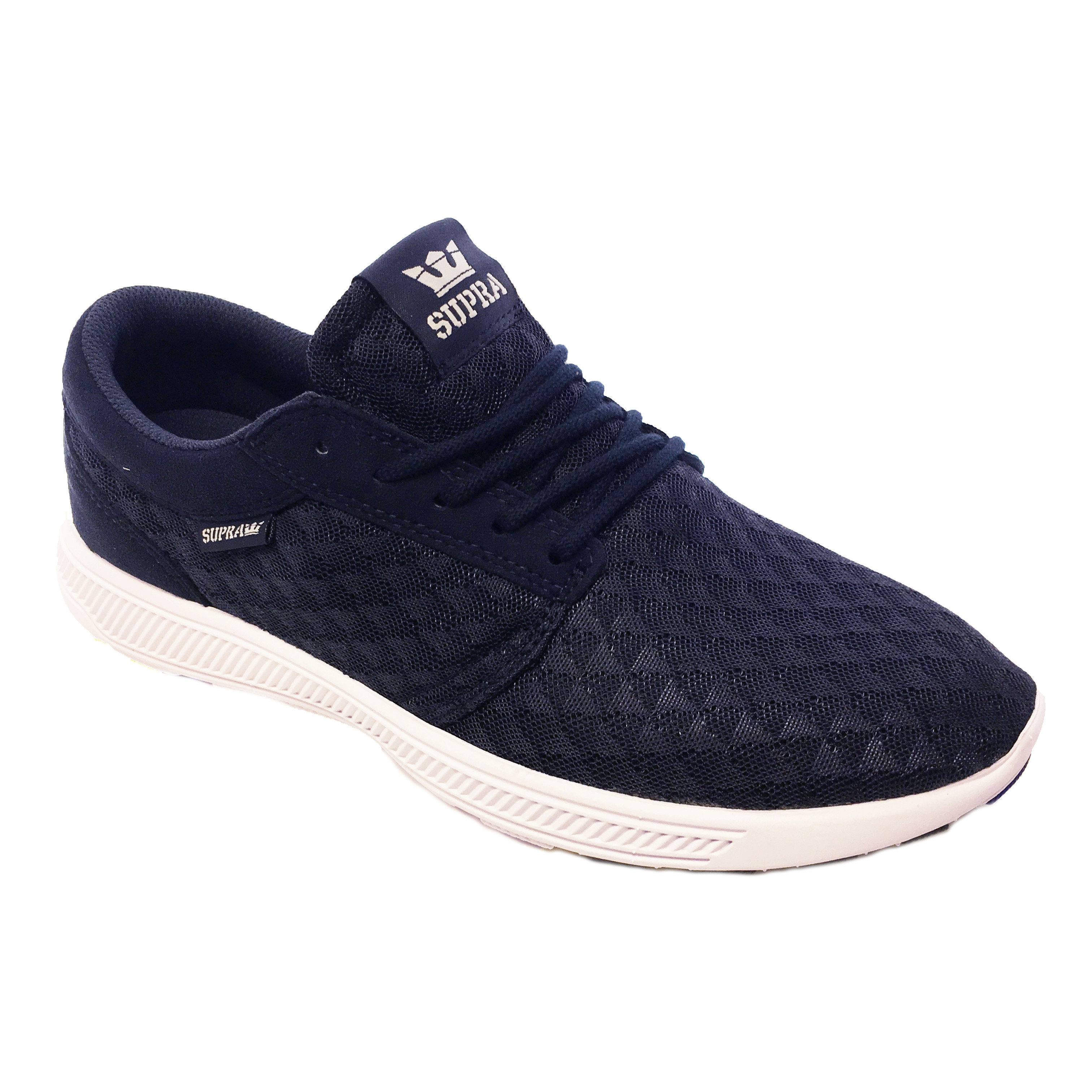 a3a71ec4b22b SUPRA Men s Hammer Run Canvas Shoes Trainers Navy Lt Grey-White ...