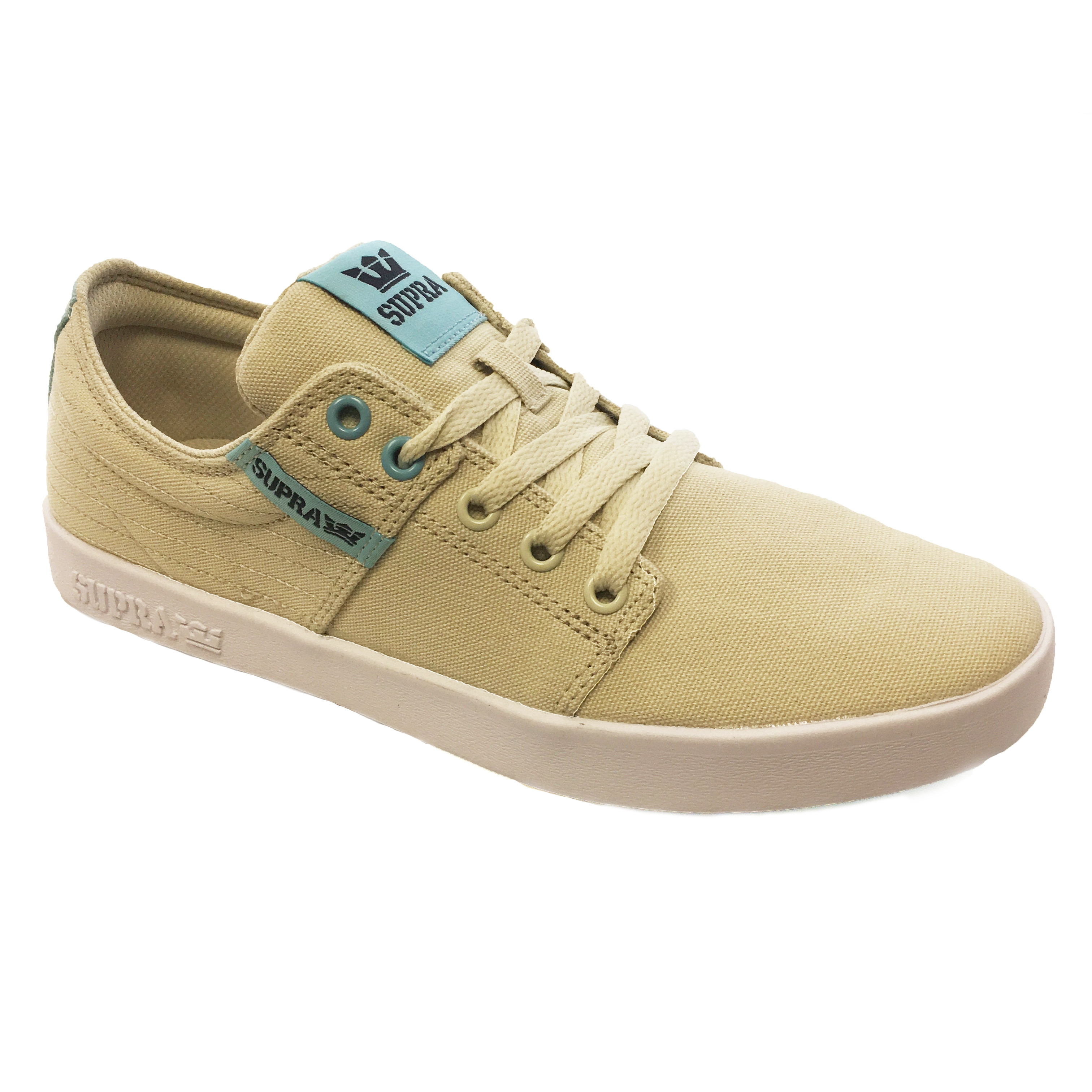 c3f54d9da841 SUPRA Men s Stacks II Canvas Shoes Trainers Bone Stitch-White