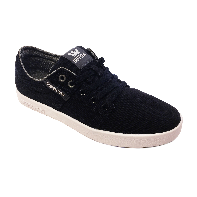 d21fc8a2e0 SUPRA Men's Stacks II Canvas Shoes Trainers Black Stitch-White | Jean Scene