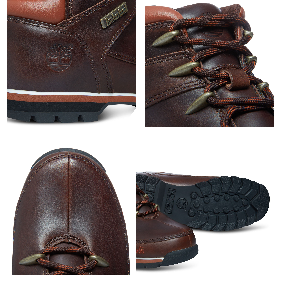 f17c8ac5de0 Timberland Euro Sprint Leather Boots Dark Brown