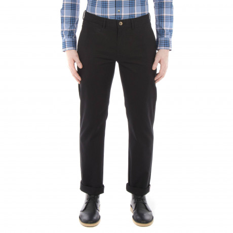 Ben Sherman Stretch Slim Fit Cotton Chinos Black | Jean Scene