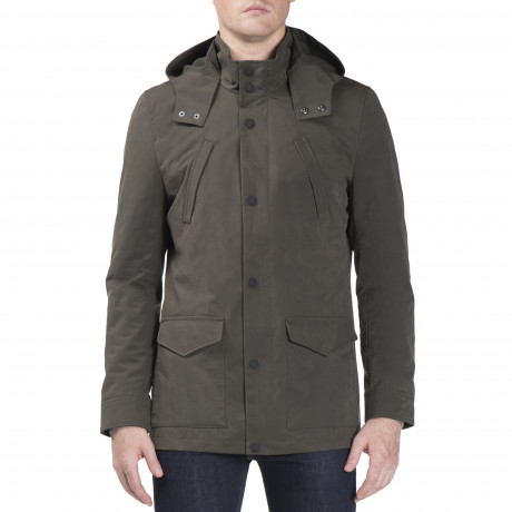 Ben Sherman Four Pocket Luxe Mac Jacket Dark Green | Jean Scene