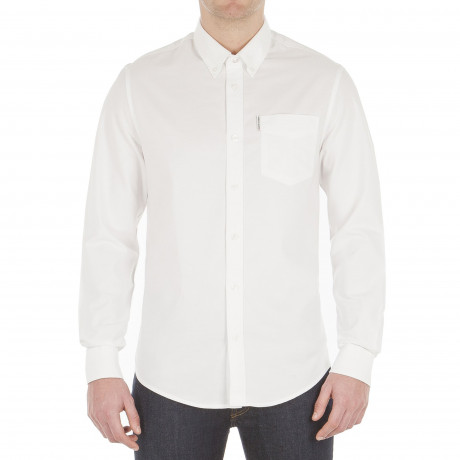 Ben Sherman Casual Men's Oxford Shirt Bright White | Jean Scene