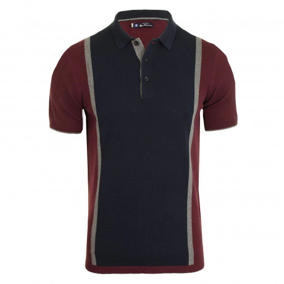 Ben Sherman Mod Cotton Polo Shirt Wine | Jean Scene