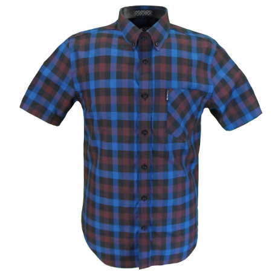 Ben Sherman Check Men's Gingham Check Shirt Classic Blue | Jean Scene