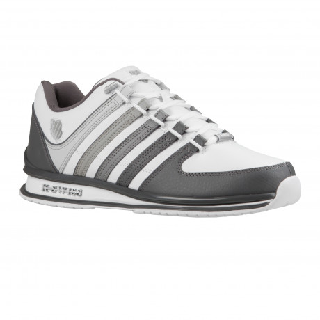 K-Swiss Men's Rinzler SP Stripe Leather Shoes Trainers White Gray Gradient | Jean Scene