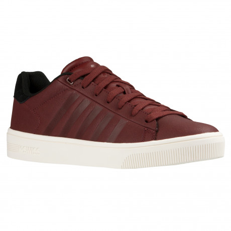 K-Swiss Men's Court Frasco Leather Shoes Trainers Rum Raisin | Jean Scene