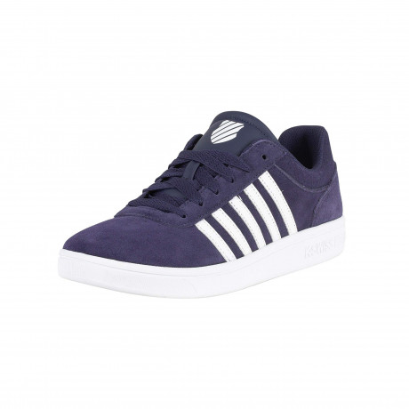 K-Swiss Men's Court Cheswick Leather Shoes Trainers Navy/White | Jean Scene
