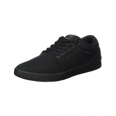 SUPRA Men's Ineto Canvas Shoes Trainers Black-Black | Jean Scene