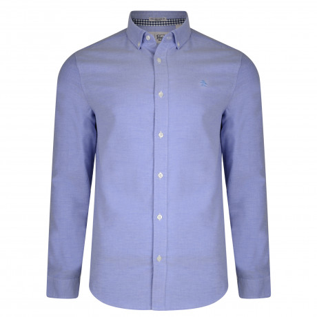 Original Penguin Oxford Shirt Long Sleeve Amparo Blue | Jean Scen