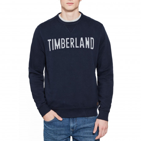 Timberland Men's Stonybrook Logo Sweatshirt Dress Blue | Jean Scene