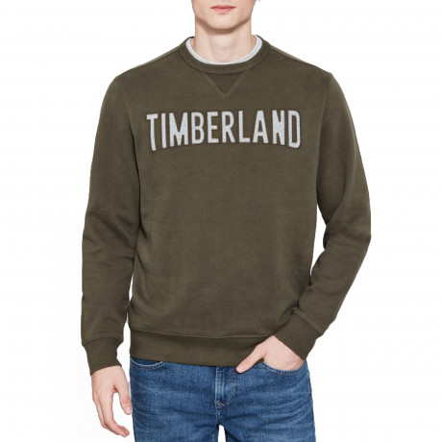 Timberland Men's Stonybrook Logo Sweatshirt Forest | Jean Scene