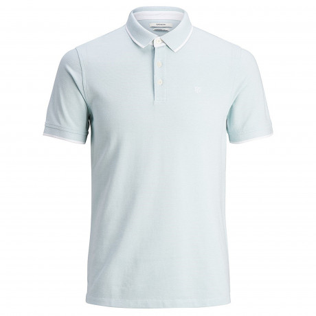 Jack & Jones Premium Paulos Polo Shirt Blue Haze | Jean Scene
