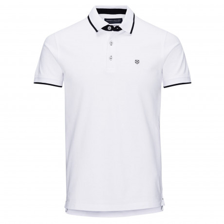 Jack & Jones Premium Paulos Polo Shirt White | Jean Scene