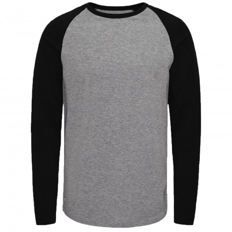 Jack & Jones Stan Raglan T-Shirt Long Sleeve Light Grey | Jean Scene