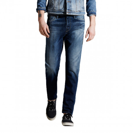 Jack & Jones Erik Original Anti Fit Denim Jeans Dark Blue | Jean Scene